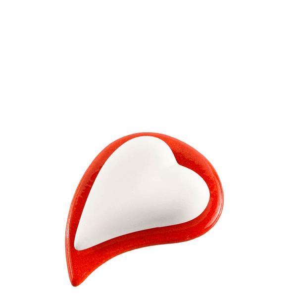 Bild von Duftstein Set Herz & Unterteller rot