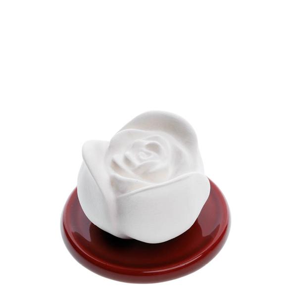 Bild von Duftstein Set Rose & Unterteller rot