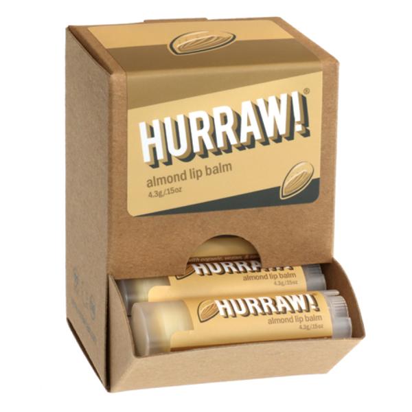 Bild von Hurraw! Almond Lip Balm Display à 24 Stk.