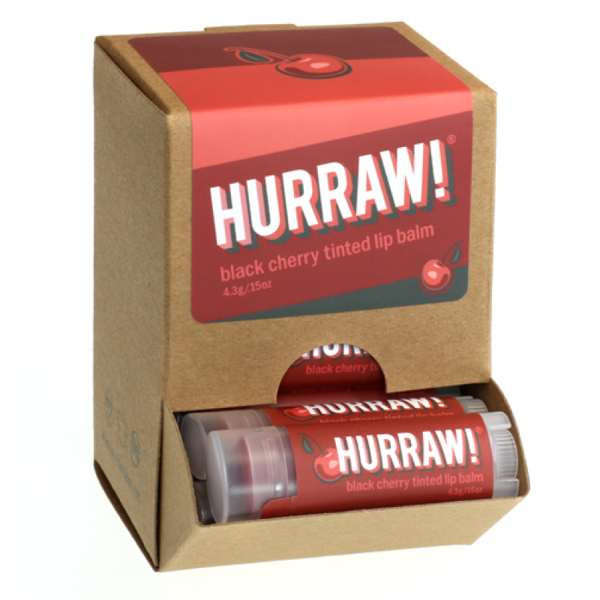 Bild von HURRAW! Black Cherry tinted Lip Balm Display à 24 Stk.