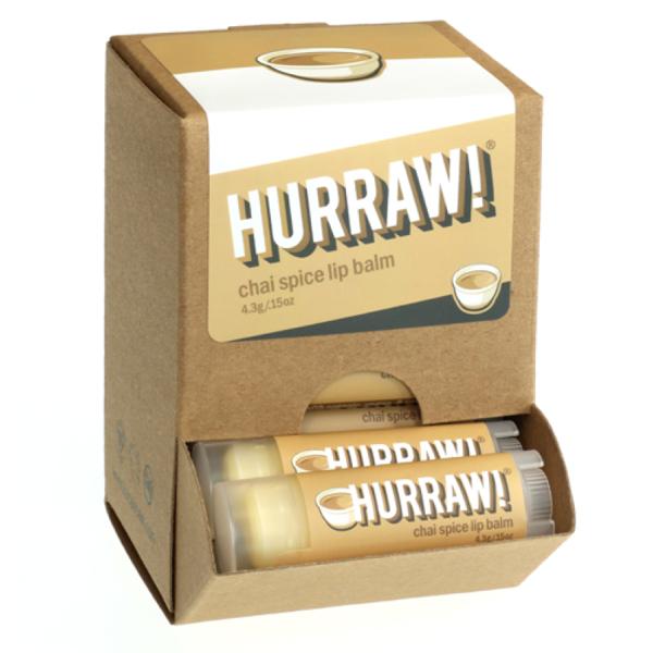 Bild von HURRAW! Chai Spice Lip Balm Display à 24 Stk.