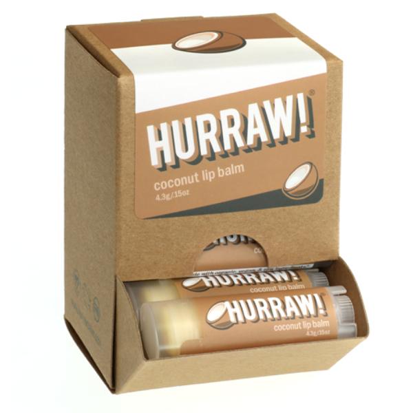 Bild von HURRAW! Coconut Lip Balm Display à 24 Stück