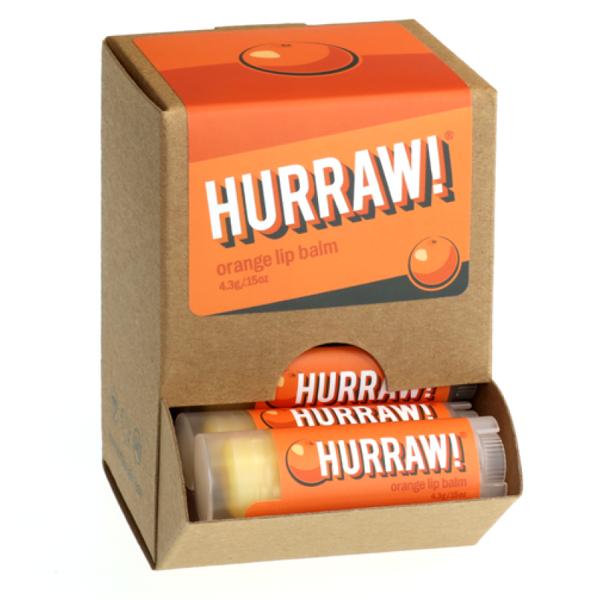 Bild von HURRAW! Orange Lip Balm Display à 24 Stück