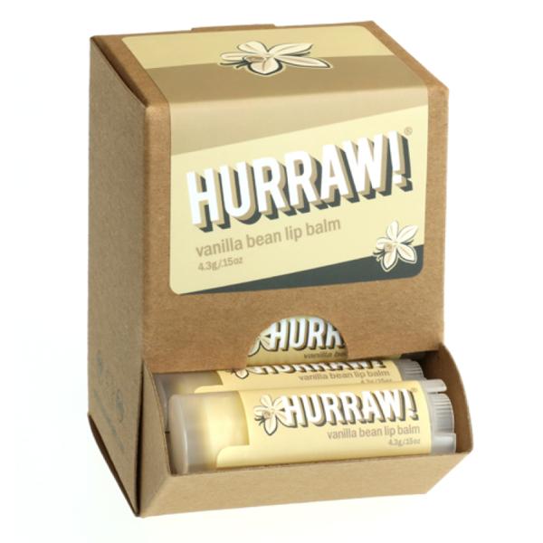 Bild von HURRAW! Vanilla Bean Lip Balm Display à 24 Stück